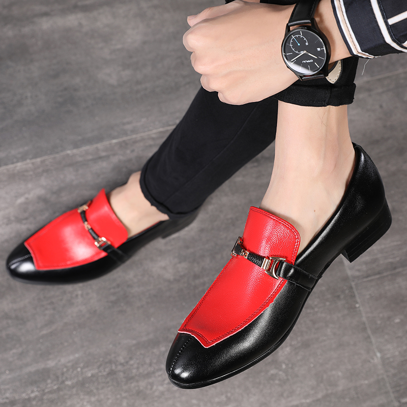 Newest Luxury Handmade Patchwork Plus Size Men Leather Shoes Business Social Leather Shoes Men Formal Party Dress Shoes Loafers