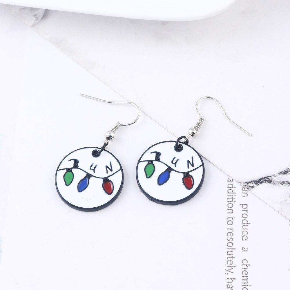 Stranger Things Earrings Colourful Enamel Earrings For Women Movie Jewelry in Stud Earrings from Jewelry Accessories