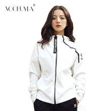 Voobuyla, Женская куртка для бега с капюшоном, с отверстием для большого пальца, куртка для йоги, куртка на молнии, одежда для фитнеса, топ, Спортивная Толстовка для спортивного зала