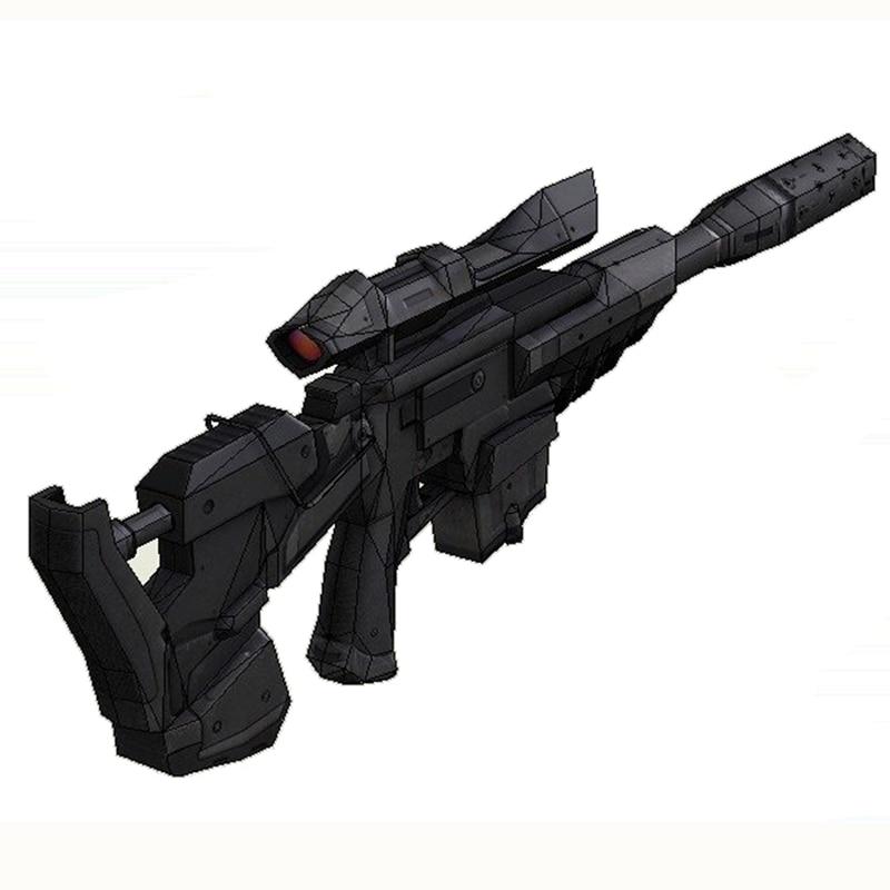 Star Wars Sniper Rifle Gun Fun 3d-papier Diy Miniatuurmodel Kits - Bouw en constructie