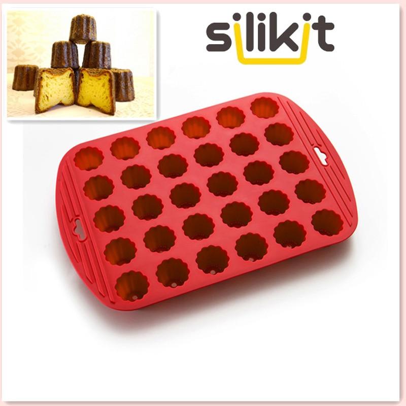 Standard di gomma di silicone di alta qualità 30 Mini fiori Canneles Bakeware Stampo per torte fai da te