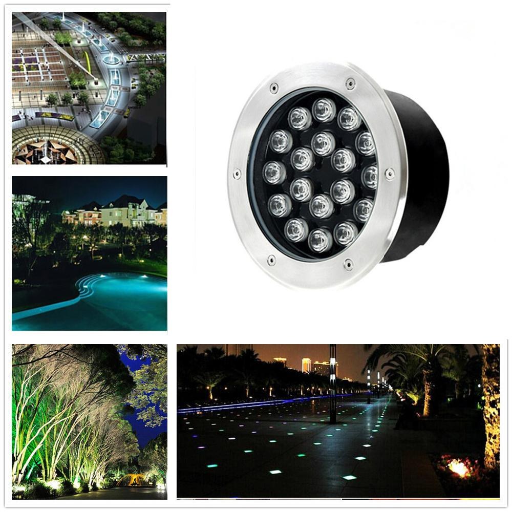 18W IP65 LED Ground Garden Buried Light Circular Underground Light Landscape Lamp Path Way Garden Lawn Decoration