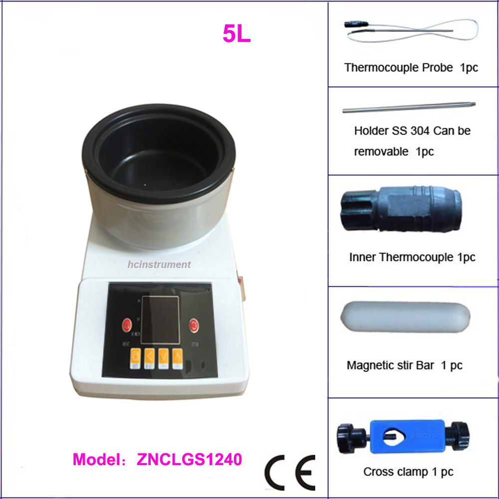 Free shipping, 5 L stirring oil bath or water bath free shipping 10l 20 to 99 degree low temperature stirring reaction bath