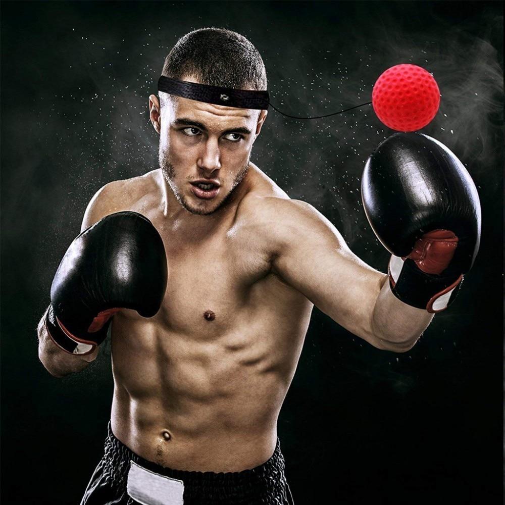 Accesorii de exercițiu pentru boxe cu minge reflexă de box, luptă - Fitness și culturism - Fotografie 6