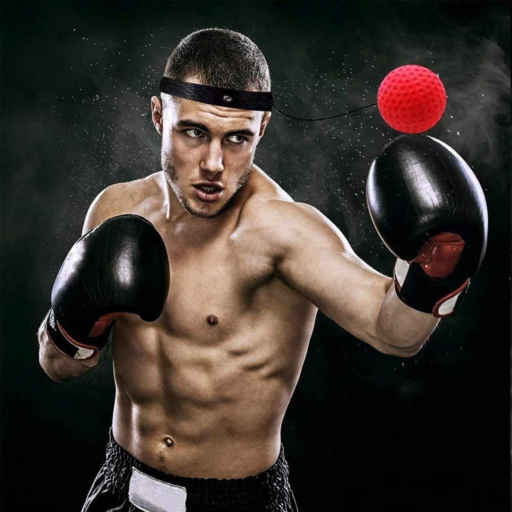 WorthWhile Kick Boxing Reflex Ball Head Band Fighting Speed Training Punch Ball Muay Tai MMA Exercise Equipment Accessories