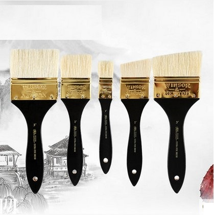 цена на WINSOR&NEWTON Bristle Extra fine Oil and Acrylic paint brushes 117075703 painter artist special paintbrush handle wood