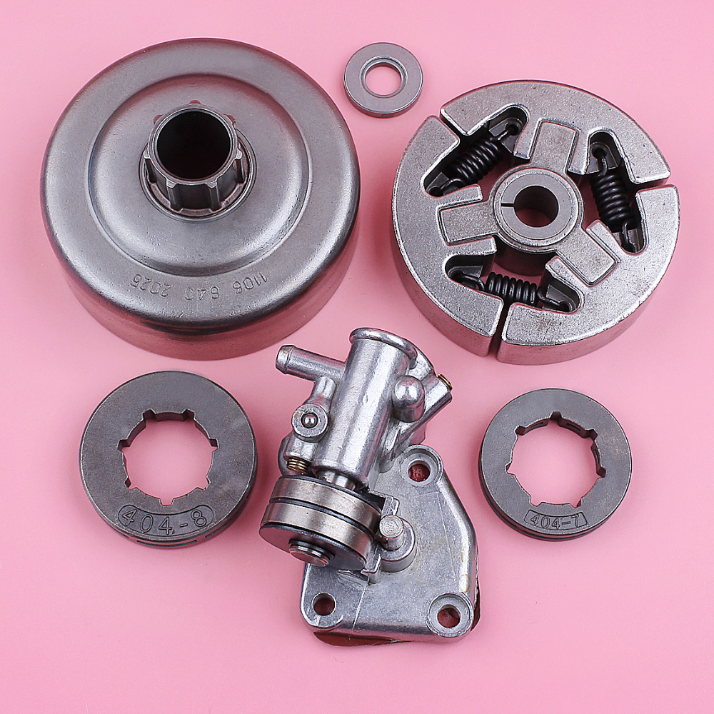 Clutch Drum Oil Pump Assy For Stihl 070 .404 8 Teeth 7 Teeth Sprocket Rim Chainsaw Replacement Spare Part