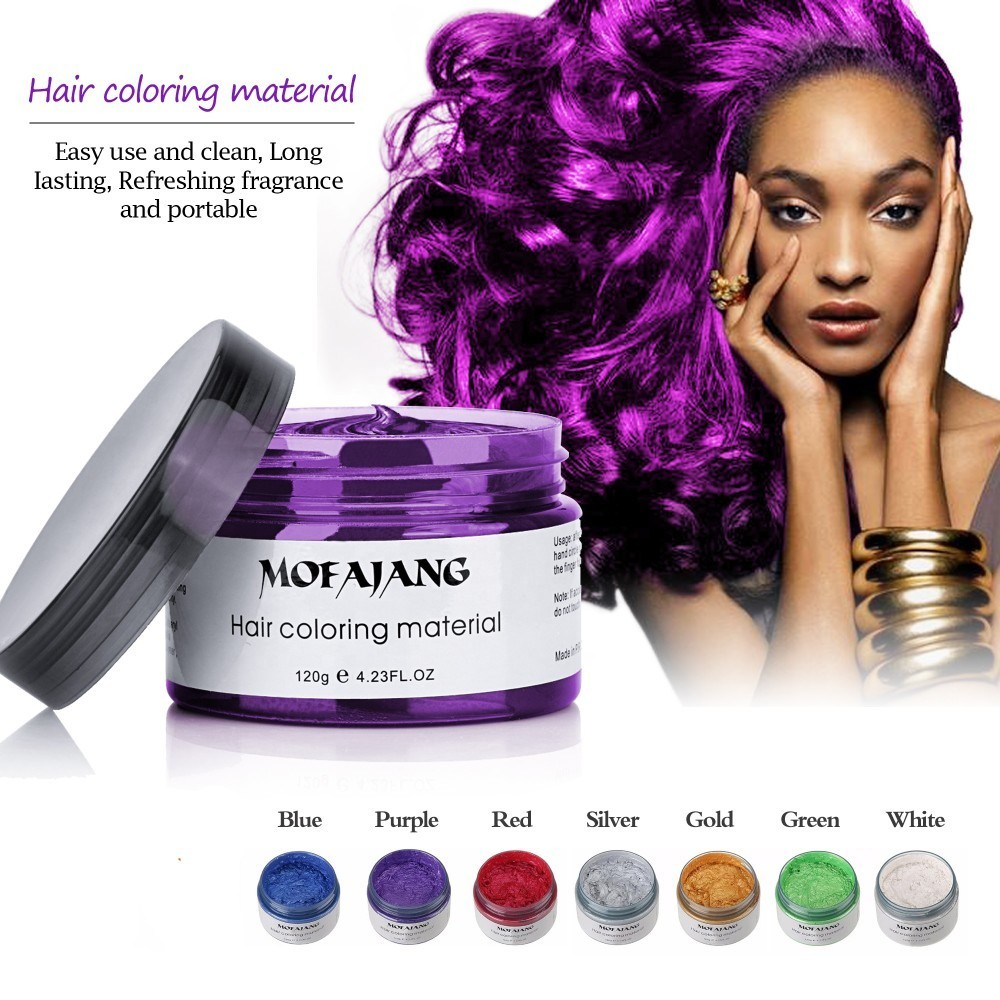 Hot Promo #1296 - Mofajang Silver Grey Hair Color Wax Men ...