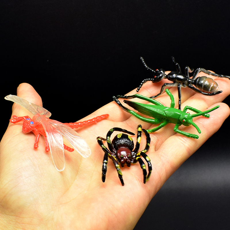 12pcs/lot PVC Simulation dragonfly Spiders mantis Scorpion scolopendra Insect Model Toy Animal Collection Models Action Figures precision planetary gearbox