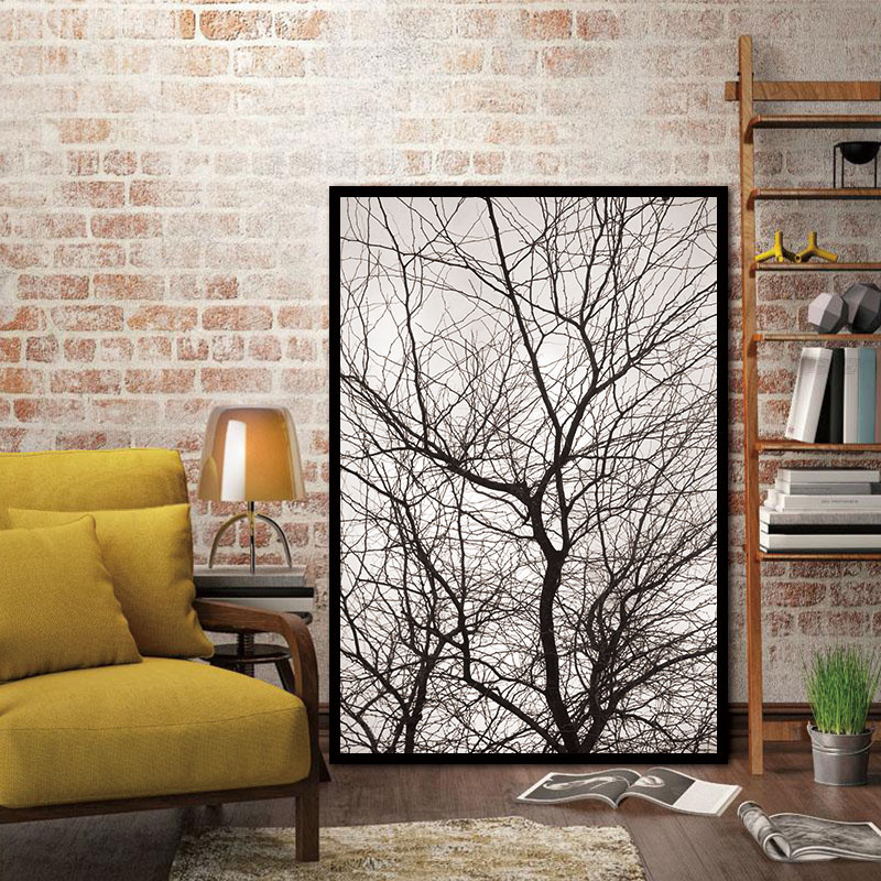 Living Room Art Decor Decorating With Gray Walls Nordic Trees Winter Abstract Wall Pictures For Decoration Scandinavian Canvas Painting Prints