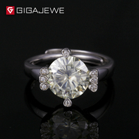 GIGAJEWE K color 9mm 3ct round brilliant cut moissanites loose stone ring for Silver jewelry making retail price