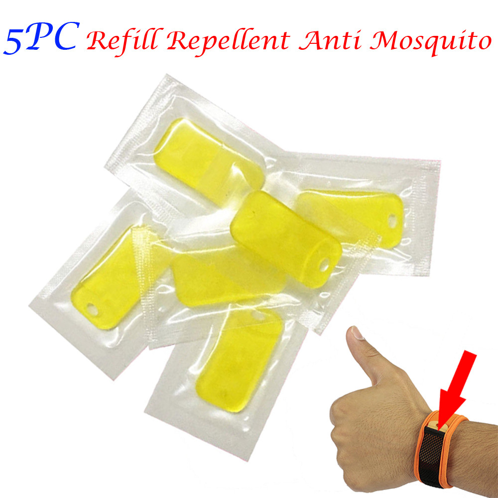 2019 Hot Sale Product 5pcs Refill Repellent Anti Mosquito For Wrist Band Mosquito Bracelet Repeller Convenient And  Practical