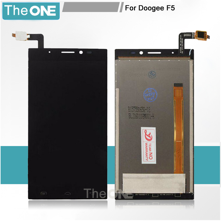 Black LCD+TP For DOOGEE F5 LCD Display with Touch Screen Digitizer Smartphone Replacement Free shipping + Order Tracking pl50 lcd
