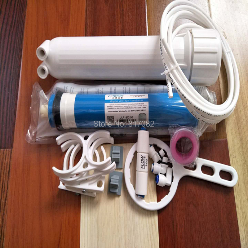 Free Shipping 50gpd Vontron RO Membrane 1812 RO Membrane Housing Reverse Osmosis Water Filter System Parts