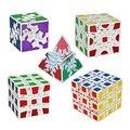 Conjunto de 5 Pack Diferentes Tipos de Artes Pegatina Cubo Cubos Mágicos Velocidad Blanco