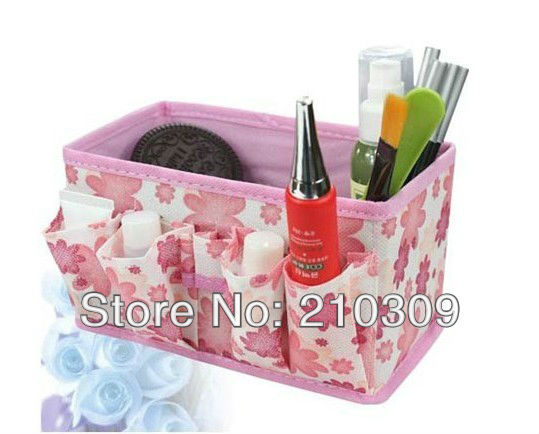 FREE SHIPPING HOT SALE Non-woven fabrics Storage Boxes home storage for cosmetics,jewelry 10pcs/lot  mix Color