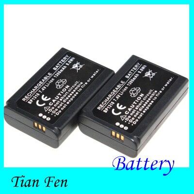 New Hot Sale 2pcs Battery BP1310 BP 1310 Rechargeable Li ion Battery for SAMSUNG NX NX10 NX100 NX11 NX20 NX5 NEW