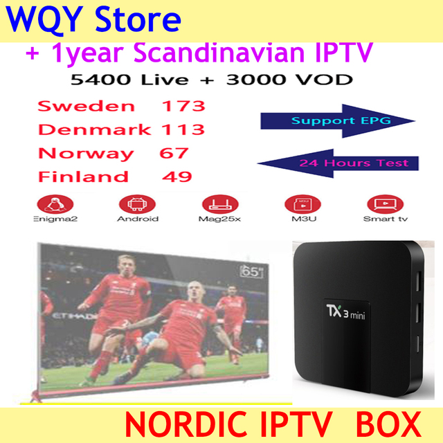 US $58 14 20% OFF|World IPTV 5400+Channels Scandinavian IPTV Subscription  Nordic Sweden Norway Finland Denmark UK USA MAG M3U Android Smart TV-in