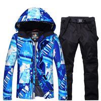 ผู้ชายชุดสกีสโนว์บอร์ดสูทกันน้ำ10000มิลลิเมตรผู้ชายหิมะสภาพอากาศ