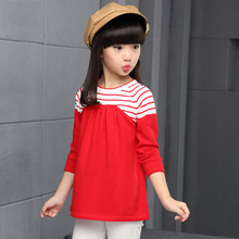 2017 Brand Children's Sweater Autumn Children's Wear Girl Style Knitting Outerwear Pullovers For 2 3 4 5 6 7 8 9 10 Years old