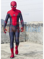 New Spider Man Far From Home Cosplay Costume Lycra Spandex Spiderman Superhero Suit Halloween Zentai Bodysuit Free shiping