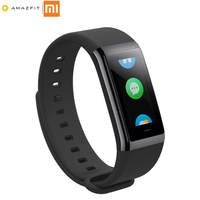 English Version Xiaomi Huami Amazfit Cor Midong Band Smart Wristband 1 23 Screen Heart Rate Monitor