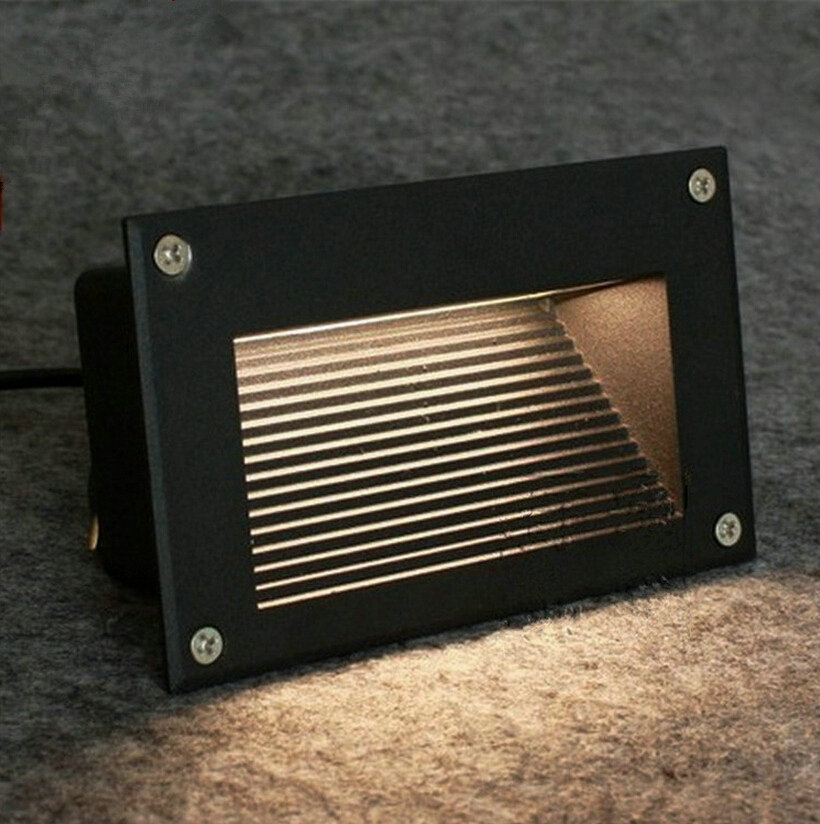 3 2w Super Bright Led Buried Lights Skirting The Footlights Stair Square Lamps Ip67 Outdoor Step