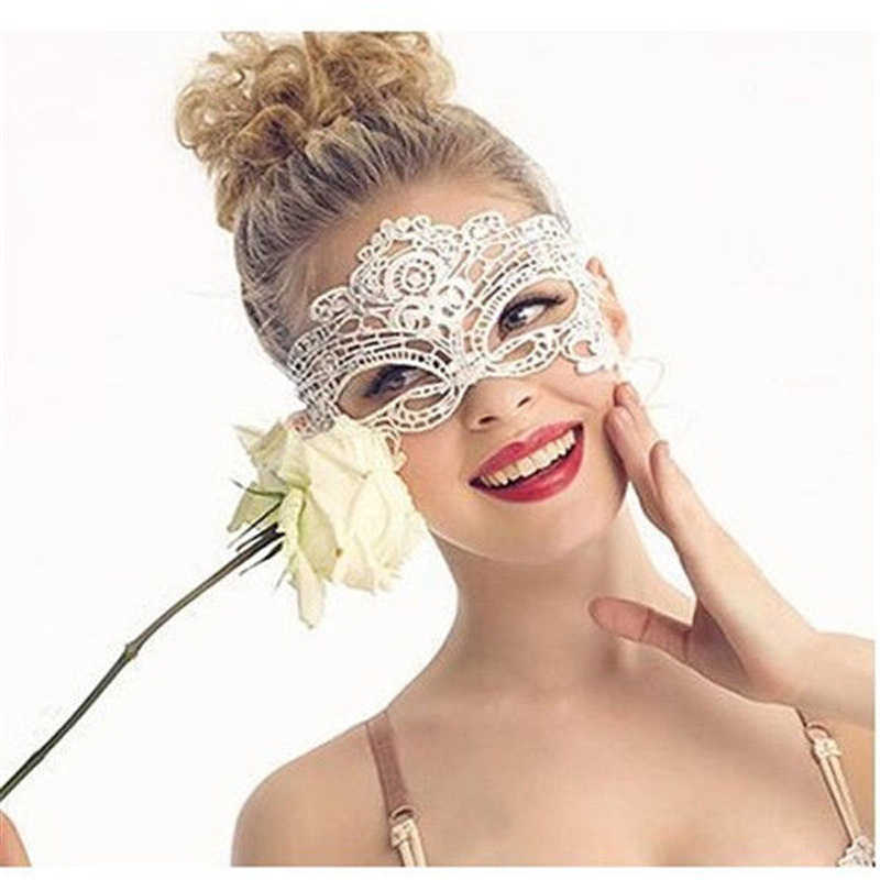 a06503ca69a1 6 Style Option Venetian Party Mask Anonymous Sexy Masks Masque Lace Black  Eye Face Masks Masquerade