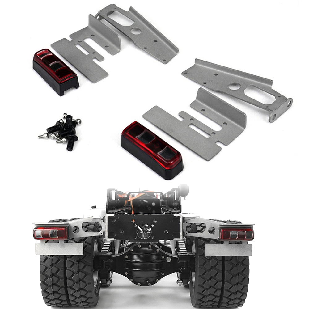 Metal Taillights Kit for Benz Tractor Truck Car Trailer Model Upgrade Parts for TAMIYA 1/14 RC Car DIY AccessoriesMetal Taillights Kit for Benz Tractor Truck Car Trailer Model Upgrade Parts for TAMIYA 1/14 RC Car DIY Accessories