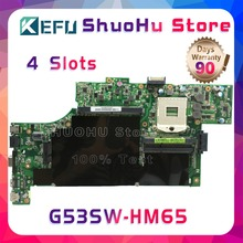 KEFU For ASUS G53SW G53S G53SX VX7 VX7S HM65 4 SLOTS laptop motherboard tested 100% work original mainboard недорго, оригинальная цена