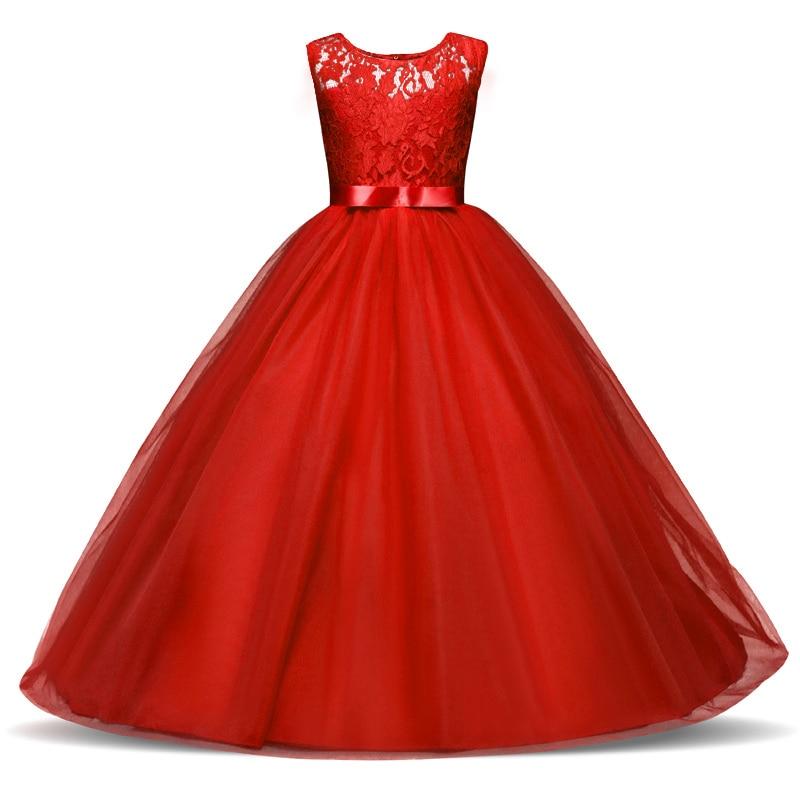 Новое кружевное платье с цветочным узором для девочек на свадьбу и день рождения, детский выпуск Выпускной наряд, фатиновое детское праздни...