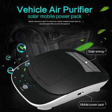 Car Air Solar Ozonizer Purifier For Car Deodorizer Ozone Ionizer Generator Sterilization Germicidal Filter Disinfection Clean