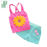 0 2 Years Baby Girl Clothes Sets Flower 2pcs Fashion Newborn Baby Girl Clothes Summer Cotton