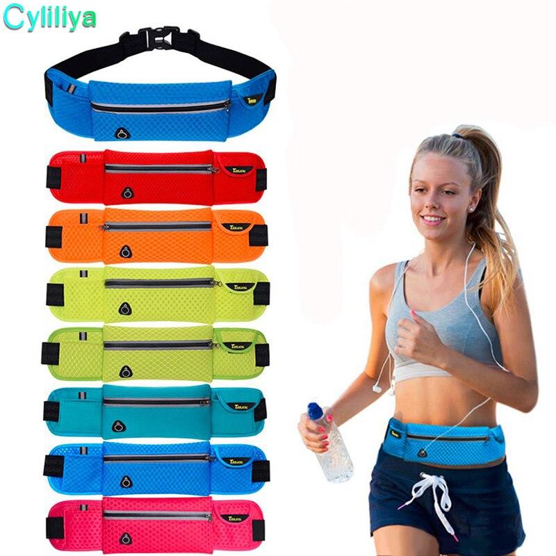 Outdoor Men Women Waist Pack phone Bag Unisex Sport Running Nylon Waist belt