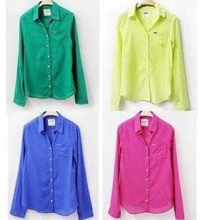 2012 Fluorescent Cotton Shirt Sun Protection Women's Top Laides ...