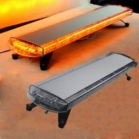 HEHEMM 96W 96 LED Strobe Flash Warning Light Bar Emergency Light for Car Trucks Caravan 4 X 4 Vehicles 12V/24V Yellow White