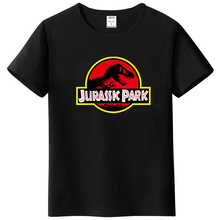 Summer men's T-shirt new JURASSIC PARK printed cotton T-shirt top casual brand pattern T-shirt hipster shirt(China)
