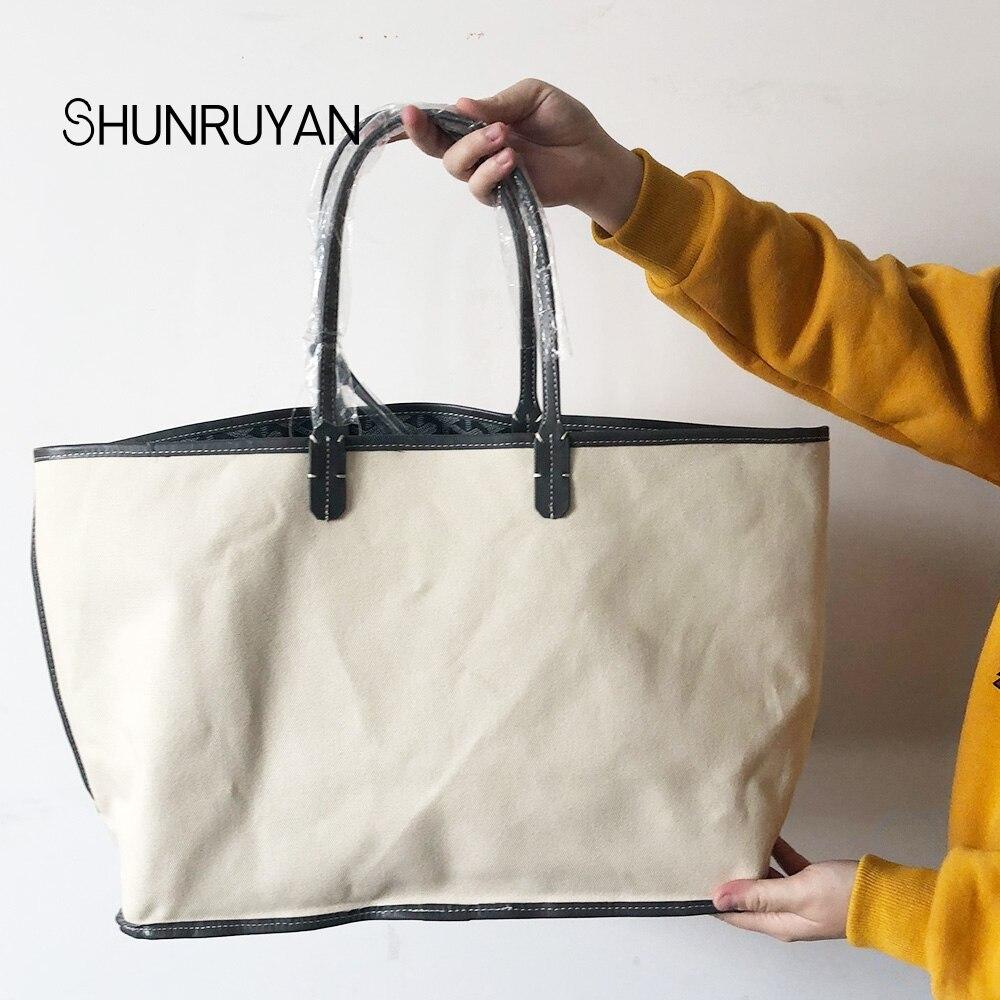 SHUNRUYAN Nouvelle PU sacs à main pour femme Sac sac à bandoulière Femme décontracté Fourre-Tout Femmes sac de messager Ensemble - 2