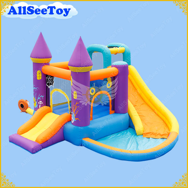Residential Inflatable Jumping Castle for Family Use,Bounce House Combo Water Slide for Kids,Bouncy Castle Inflatable Halloween commercial tropical inflatable jumping bounce house inflatable kids combo bouncy house for sale
