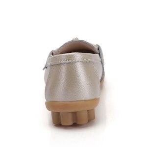 Image 3 - ZIMENIE Thương Hiệu 16 Màu Mềm Người Phụ Nữ Đế Giày Người Phụ Nữ Bướm Trang Trí Đi Bộ Giày Da Cho Nữ Big Size Lớn 35 ~ 44