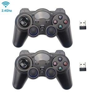 Image 1 - 2.4 グラムワイヤレスゲームコントローラジョイスティックゲームパッド用のusbレシーバーとPS3 アンドロイドテレビボックスラズベリーパイ 4 retropie retroflag nespi