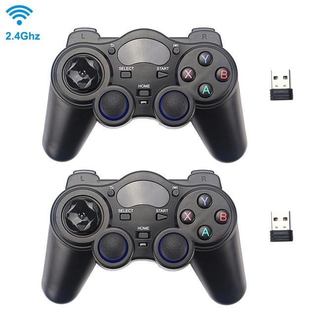 2.4 グラムワイヤレスゲームコントローラジョイスティックゲームパッド用のusbレシーバーとPS3 アンドロイドテレビボックスラズベリーパイ 4 retropie retroflag nespi