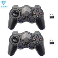 2,4G беспроводной игровой контроллер Джойстик Геймпад с usb-приемником для PS3 Android TV Box Raspberry Pi 4 Retropie Retroflag NESPi