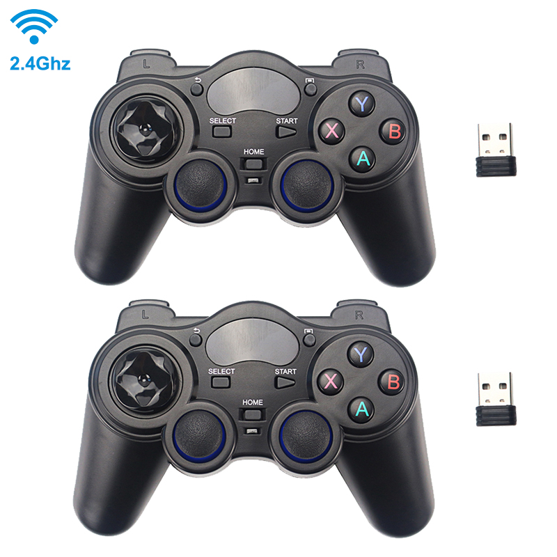 2 4G Wireless Game Controller Joystick Gamepad with USB Receiver for PS3 Android TV Box Raspberry Pi 4 Retropie Retroflag NESPi