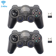 2.4G Wireless Game Controller Joystick Gamepad with USB Receiver for PS3 Android TV Box Raspberry Pi 4 Retropie Retroflag NESPi