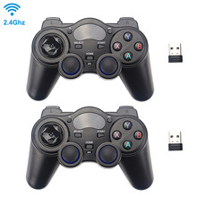 2,4G Wireless Game Controller Joystick Gamepad mit USB Empfänger für PS3 Android TV Box Raspberry Pi 4 Retropie Retroflag NESPi(China)