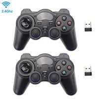 2,4G Wireless Game Controller Joystick Gamepad mit USB Empfänger für PS3 Android TV Box Raspberry Pi 4 Retropie Retroflag NESPi