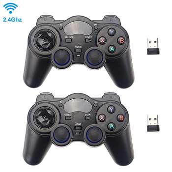2.4G Wireless Game Controller Joystick Gamepad with USB Receiver for PS3 Android TV Box Raspberry Pi 4 Retropie Retroflag NESPi