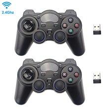 2.4G أداة تحكم في الألعاب لاسلكية عصا التحكم غمبد مع أوسب استقبال ل PS3 تي في بوكس أندرويد التوت بي 4 ريتروبي التحديثية لاغ نيسبي