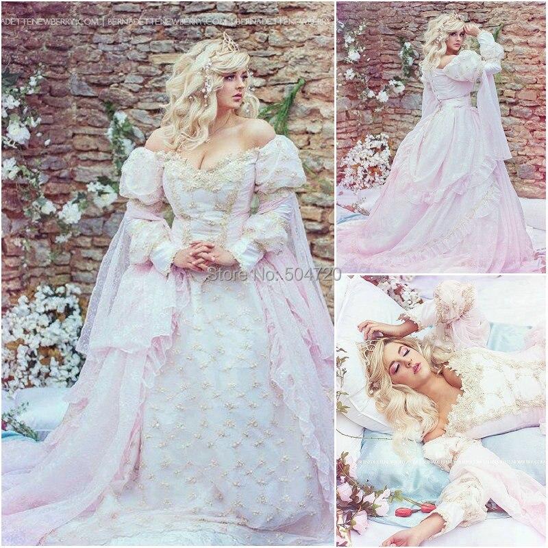 Custom-madeR-086 Pink 19 century Vintage Victorian Gothic Lolita/Civil War Southern Belle Ball Halloween dresses Sz US 6-26